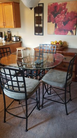 Tall Dining Table With Four Chairs