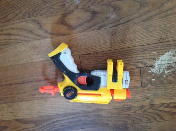 Vintage 1994 NERF Ripsaw Blaster MIB with catalog and original Nerf  ballistic balls