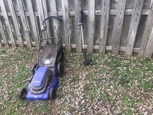 Lawnmower leaf blower weed trimmer