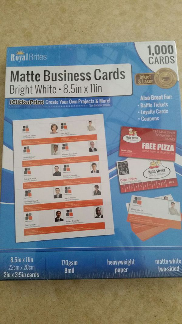 1000 Business Cards (Business Equipment) in Victorville, CA - OfferUp