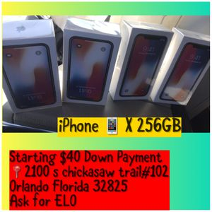 iPhone X 256GB UNLOCK FOR$38 down payment