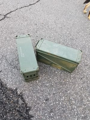 2 large ammo cans