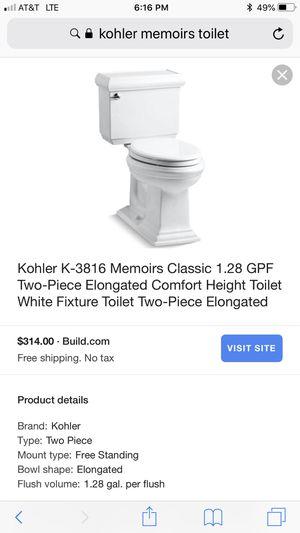 White Ceramic Toilet by Kohler