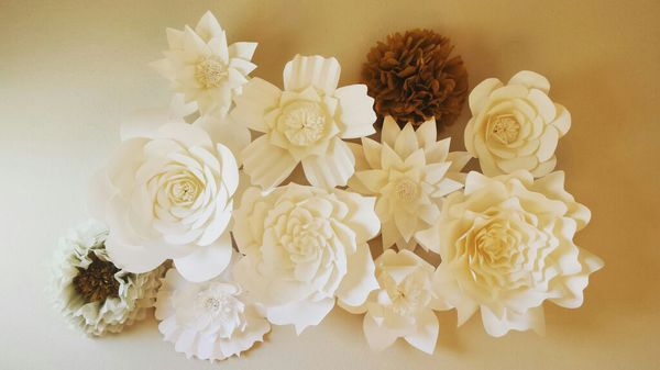 Giant 3D Paper Flower Wall Backdrop Wedding (Arts & Crafts) in ...