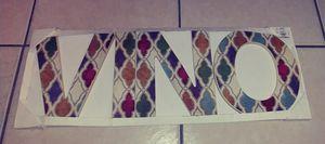 VINO wood letters