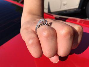 1 ct 18k white gold emerald cut diamond ring size 6 .