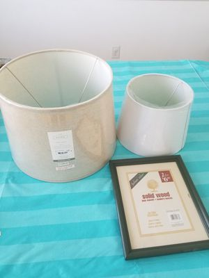 lamp shades and picture frame