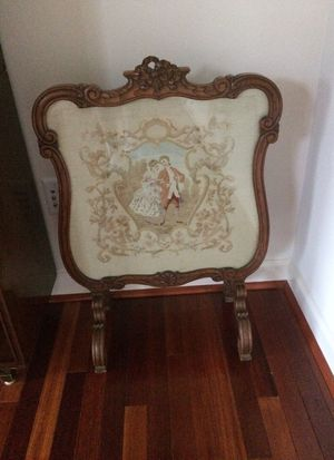 Antique fireplace screen