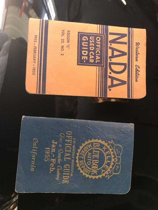 Vintage Kelly blue book and NADA Used car price book 1955 ...