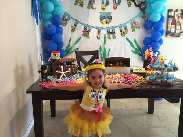 SpongeBob birthday decoration handmade Baby Kids in San Jose CA