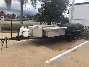 Smoker grill trailer