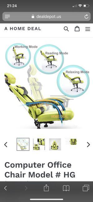 Computer chair gaming racing reclining tilt
