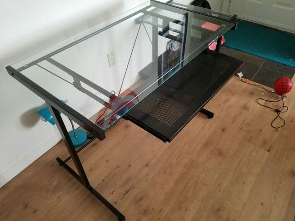 Glass desk and printer stand furniture in edmonds wa for Furniture edmonds wa
