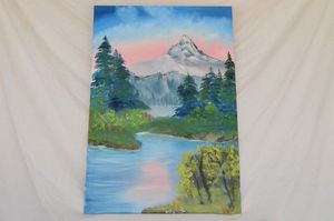 """Mighty Mountain (Oil on canvas 24"""" x 36"""")"""