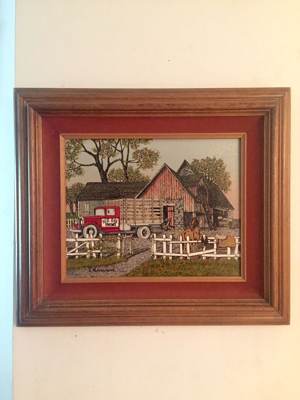 8 X 10 Picture In A 14 X 13 Wooden Frame Artist Limited Edition