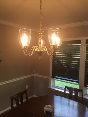 Four light chandelier
