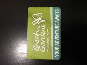 Busch garden Williamsburg park ticket