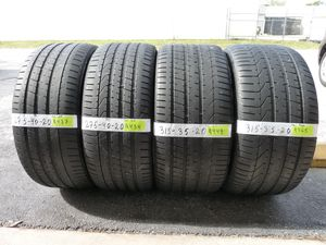 G166 275 40 20 and 315 35 20 Pirelli Pzero BMW Run Flat 4 used tires 50% life