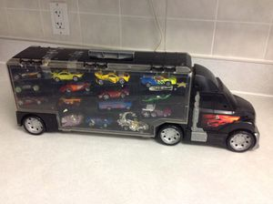 Hot wheels display carry case with cars