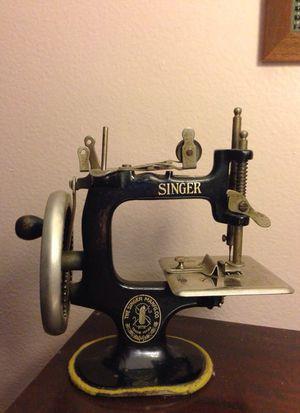antique Singer children's sewing machine