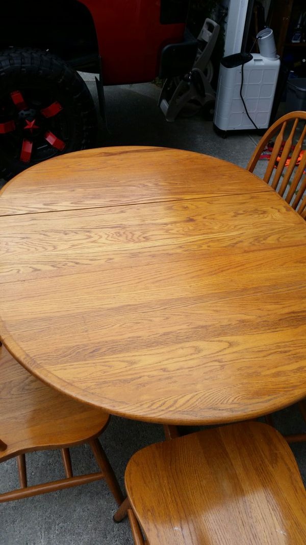 Kitchen table w leaf and 5 table furniture in for Furniture in everett
