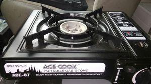 Portable gas camp stove