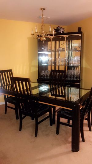 Make An Offer - dining room setwith bar and China cabinet
