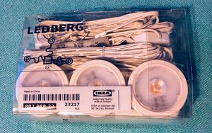 IKEA LEDBERG 3-pack Spotlights - NEW IN BOX!