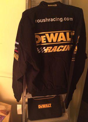 Dewalt jacket and Dewalt note pad