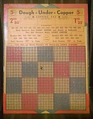 Vintage Jackpot Game Play Board