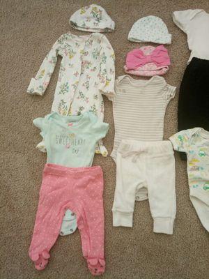 12 Lot of Newborn Clothing plus hat