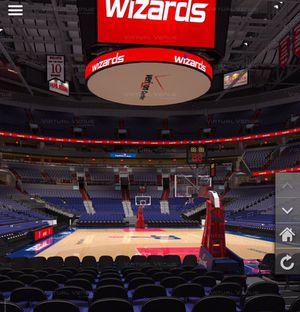 Wizards vs Memphis floor seats (Behind the basket)