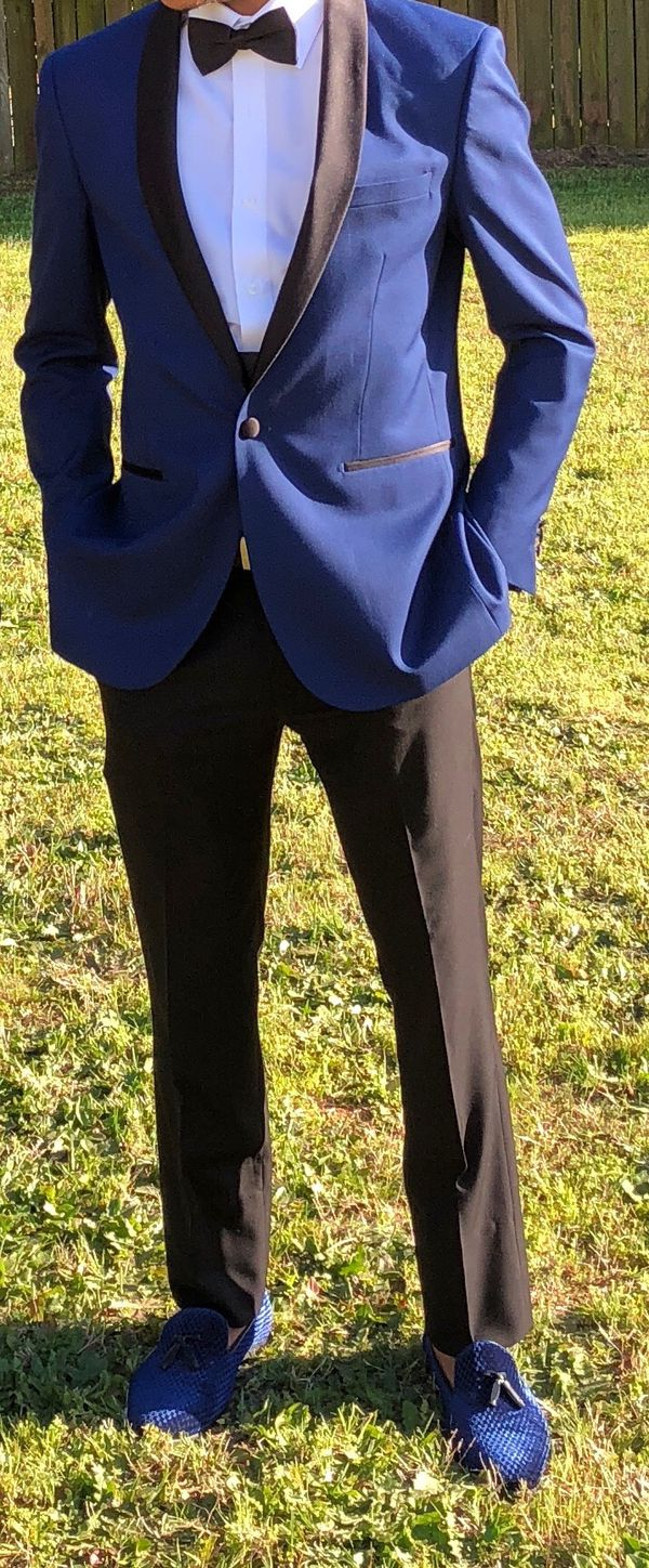 Savii Navy Blue Prom Suit (Clothing & Shoes) in McDonough, GA