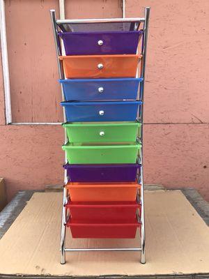 10 drawer rolling organizer
