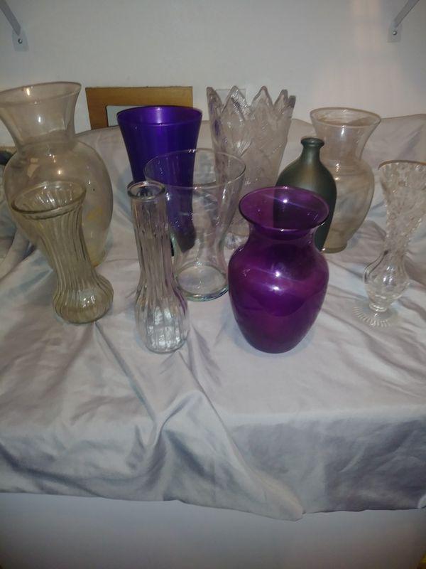 10 Assorted Glass Vases Home Garden In Auburn Wa Offerup