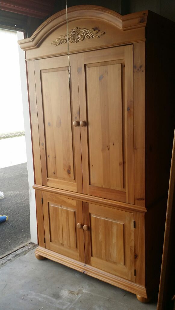 armoire used broyhill fontana armoire entertainment. Black Bedroom Furniture Sets. Home Design Ideas
