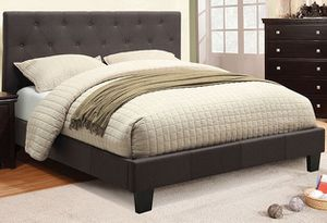 Gray King Tufted Bed