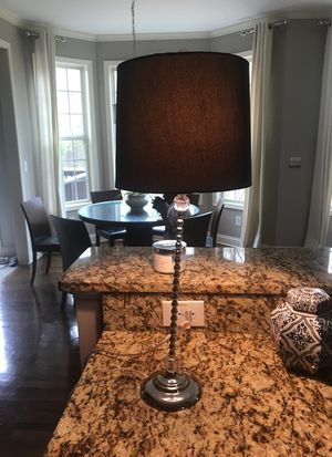 27 inch lamp with black shade