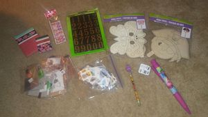Bag of crafts and misc items for kids