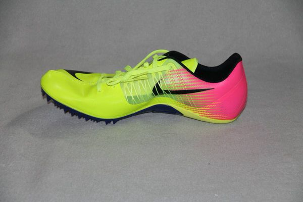 Nike Zoom Celar 5 Sprint Track Cleat Spikes Rio Olympics Volt Pink Size 10.5 New