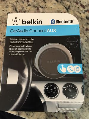 Belkin F4U037 AirCast Wireless Bluetooth AUX Hands-Free Car Kit for Smartphone