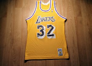 Vintage Los Angeles Lakers Magic Johnson Sand Knit Jersey