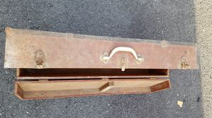 Vintage early carpenter's toolbox.