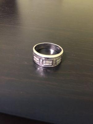 18K Platinum wedding engagement ring with diamonds