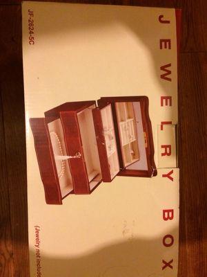 New in box, jewelry box, mirror lock and key