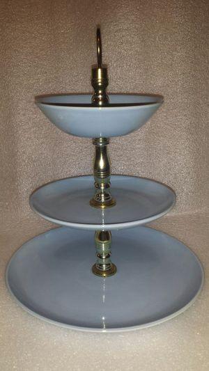 Vintage 3 tiers tray