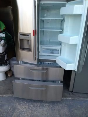 LG refrigerator stainless steel four doors working very well like brand now