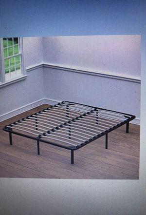 "Full size Wood Slat 12"" Above Ground Metal Frame Bed, will Deliver!"