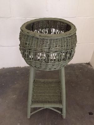 Vintage wicker plant stand