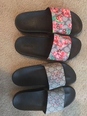 Gucci flip flops 1 $150 two $280